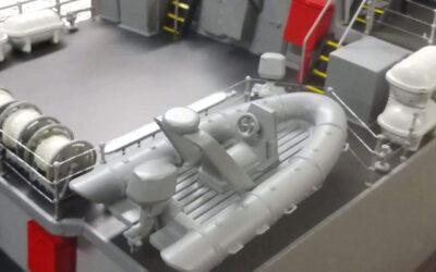 Modello per esposizione Cacciamine scala 1:50