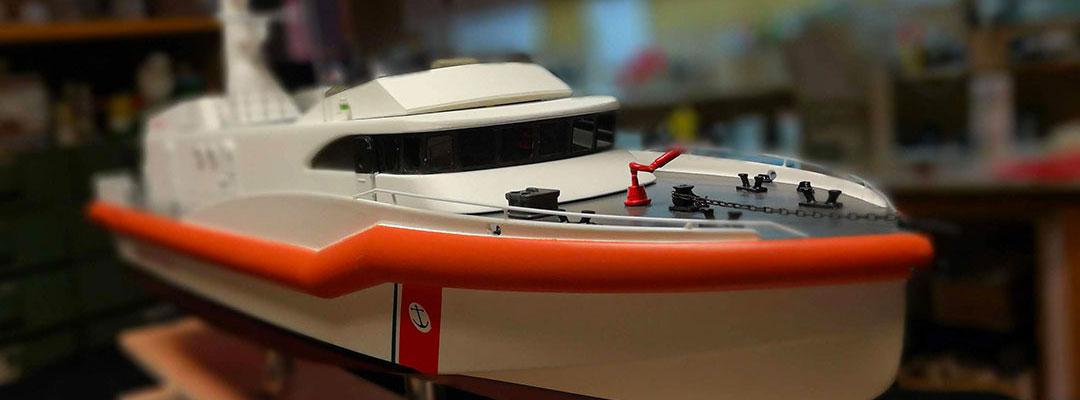 Modello motovedetta Guardia Costiera scala 1:50