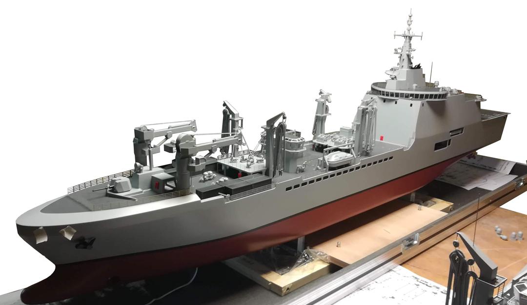 Modello per esposizione nave LSS scala 1:100