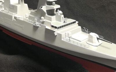 Modello per diorama nave FREMM scala 1:250